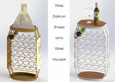 China 23 Bottles Wine Barrel Food Display Stands For Store / Home Not Knocked Down distributor