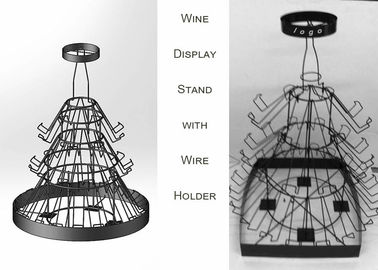 China 42 Bottles Christmas Tree Shaped Wine Rack , 3 Layers Wine Bottle Christmas Tree Stand distributor