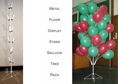 China Balloons Tree Metal Display Floor Stands with Wire Foldable Base / 8 PairsTubular Holder Balloon Metal Display Racks distributor