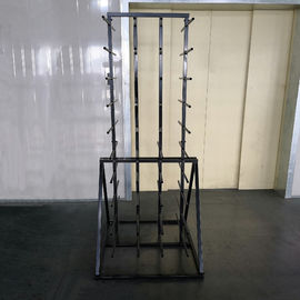 China Metal Double Sides Roller 80 Arm Industrial Display Stands For Vinyl Roll distributor